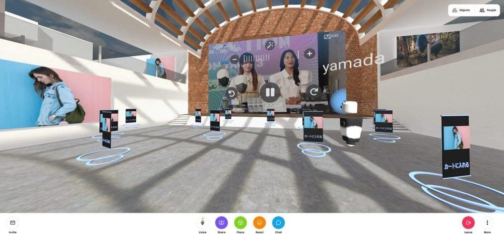 VRコマース VRmall カメラ機能